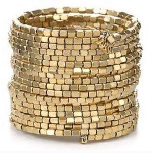ABS Allen Schwartz Gold Bead Coil Bracelet